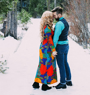 Couple Stand over the snow DP 2019