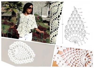 Motivo crochet piña o ananá Revista-diagramas-tutoriales