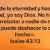 Isaías 43:13