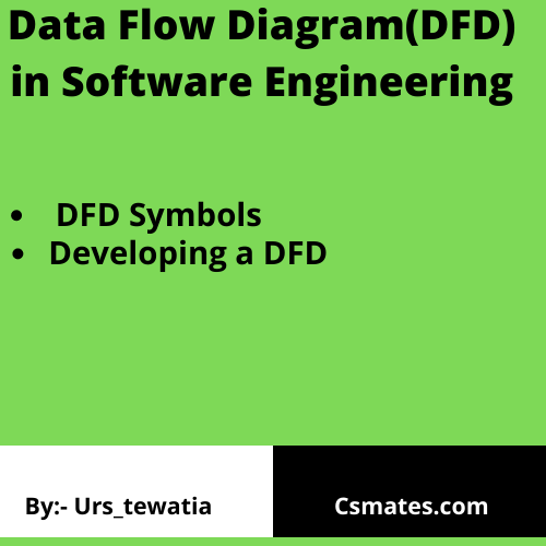 What is dfd or data flow diagram in software engineering