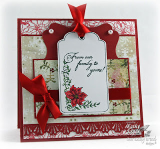 Stamps - Our Daily Bread Designs Poinsettia Tag Set, Mistletoe Tag Set