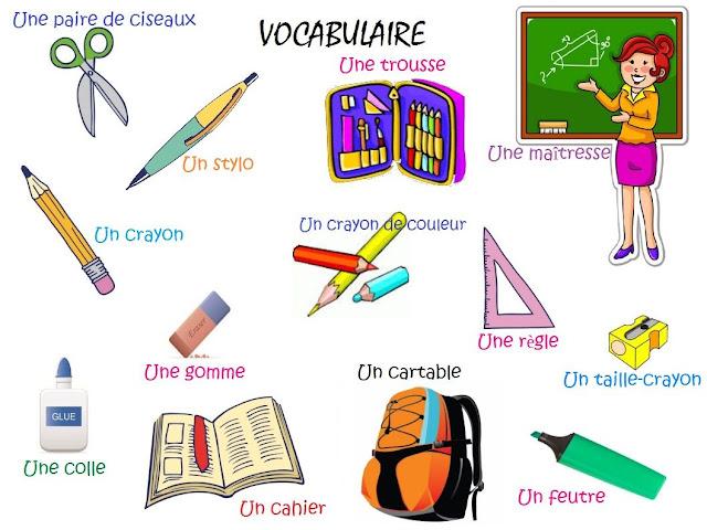 W szkole - słownictwo 1 - Francuski przy kawie