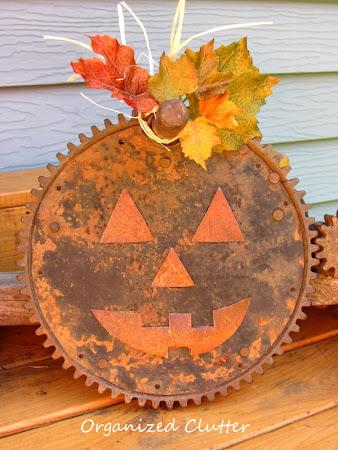 Re-Purposed Junk Pumpkin Vignette