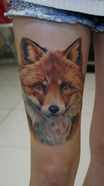 tattoo ideas fox for woman