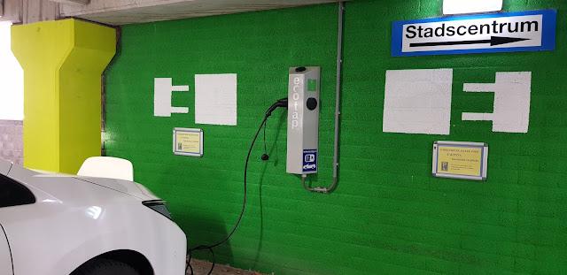 Charging in parking garage