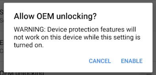 Allow OEM Unlocking