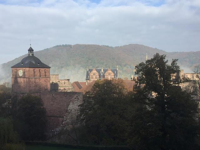 Nebel auf dem Heidelberger Schloss