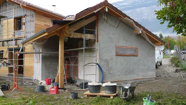 matière première facade chaux sur ossature bois
