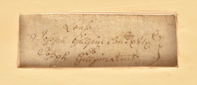 Inset of document - handwritten in iron gall ink, showing transfer from Joseph Gilpin Sr to Joseph Gilpin Jr