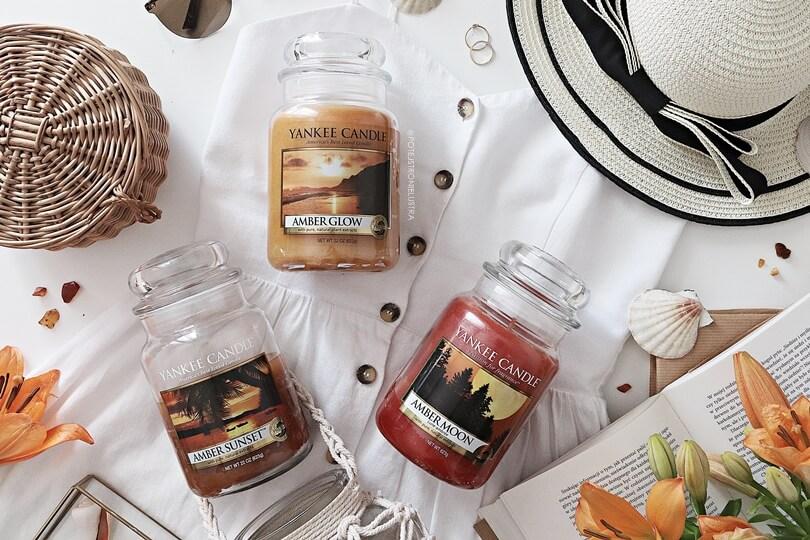 Zapach bursztynu | Yankee Candle Amber Moon, Amber Glow i Amber Sunset