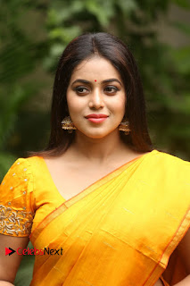 Actress Poorna Pictures in Saree at Avanthika Movie Opening  0005