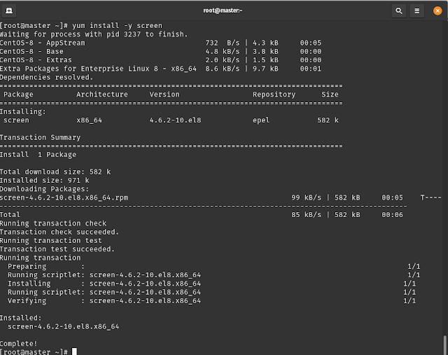 LPIC-System Administrator - Hướng dẫn cài đặt và sử dụng Screen trên Centos 8