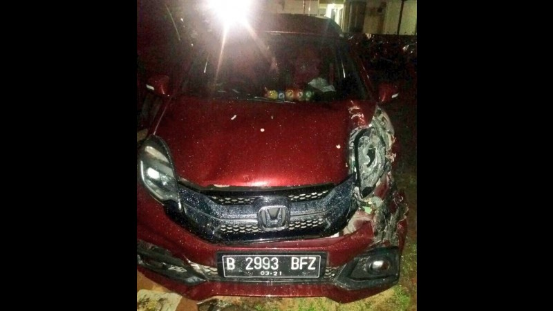 Kondisi Honda Mobilio usai kecelakaan