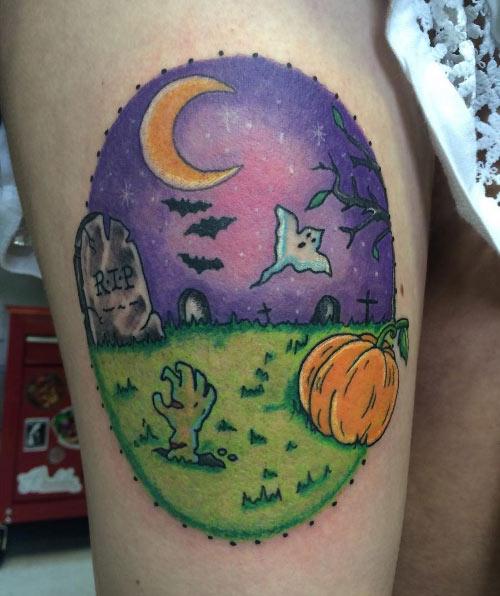Tatuaje temporal de Halloween