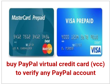 buy PayPal virtual credit card (vcc) to verify any PayPal account