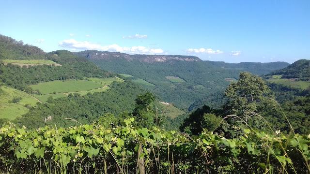 Bela paisagem rural no interior de Caxias do Sul