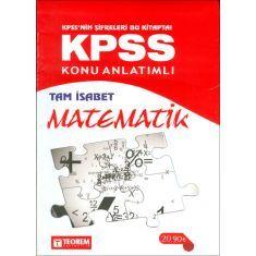 Teorem KPSS Matematik Tam İsabet Konu Anlatımlı (2016)