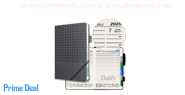"50% OFF SynLiZy A5 2020 Planner Agenda Appointment Book 365 Days Academic Monthly & Daily Planner One Page Per Day 5.5"" x 8.3"""
