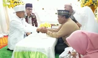 Wakil Bupati Batu Bara Jadi Saksi Pernikahan Atlit Sepak Bola Persib Bandung