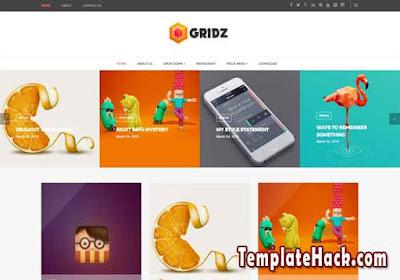 gridz blogger template