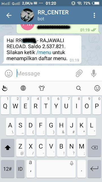 panduan transaksi pulsa menggunakan telegram