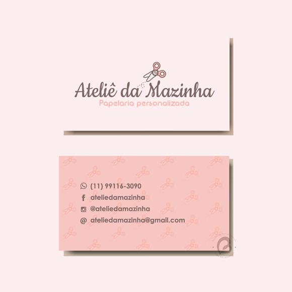 Cartão de Visitas Papelaria Personalizada