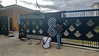 Pagar Ornament Cutting Laser I Kota Padang
