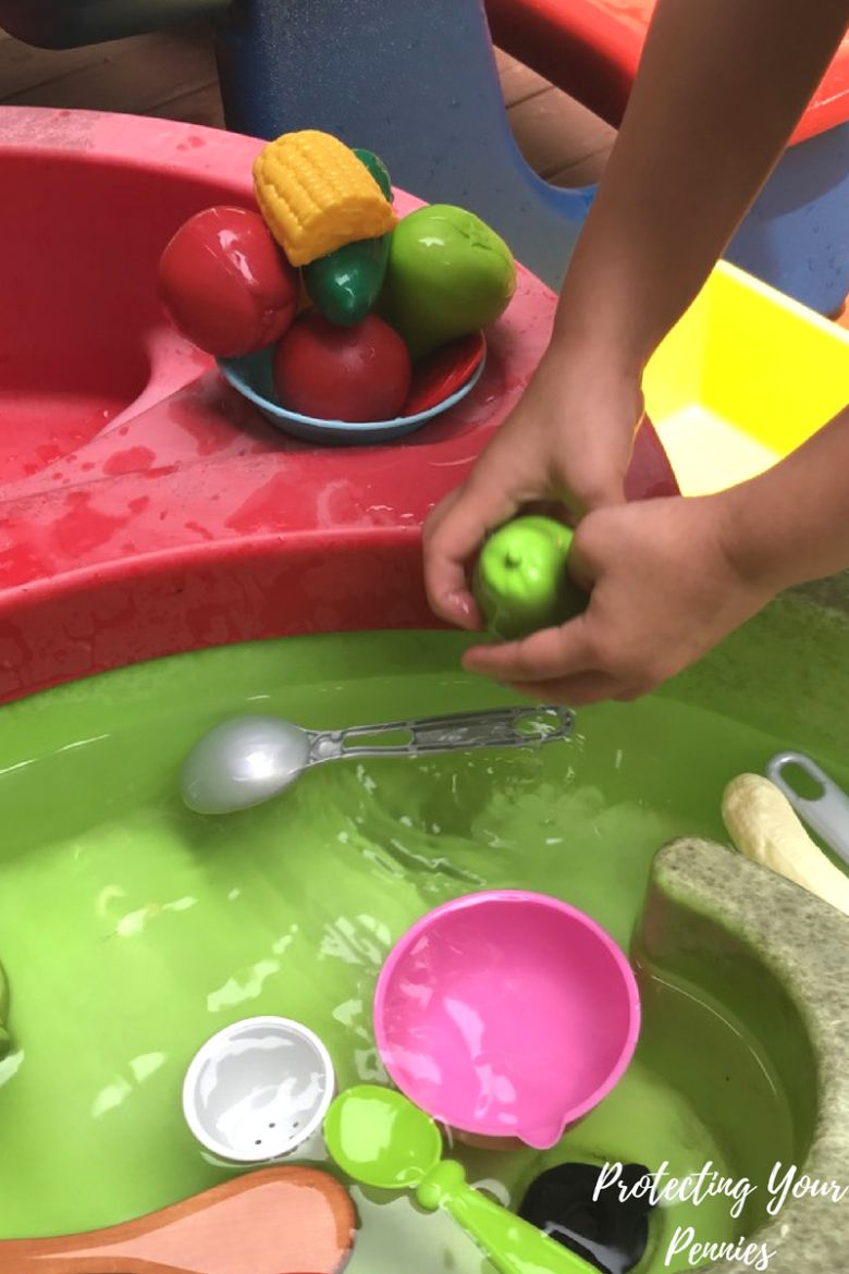vegetable soup water play for toddlers