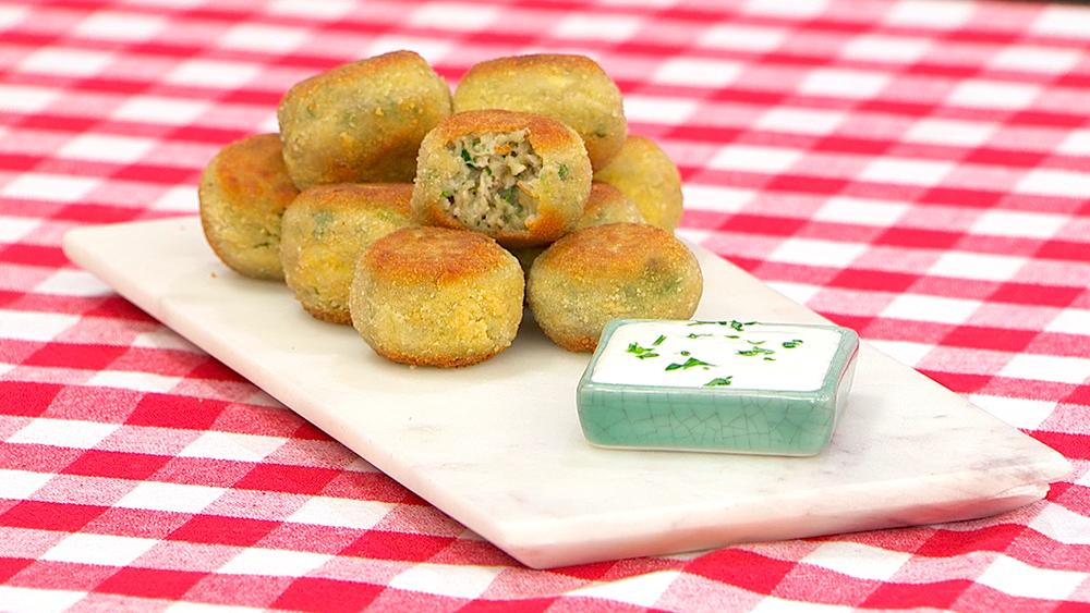Croquetas de berenjena y queso al horno