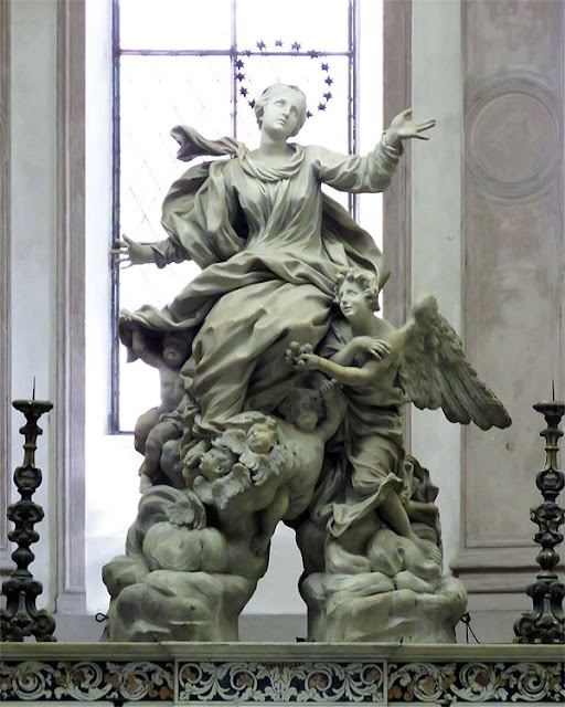 Assunzione di Maria, Assumption of Mary by Domenico Parodi, church of Santa Maria di Castello, Genoa,