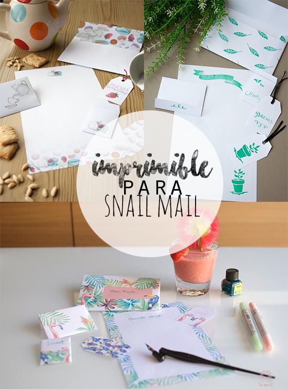 imprimibles snail mail