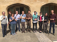 Workshop participants show off their flutes