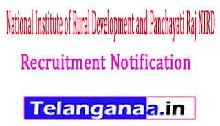 National Institute of Rural Development and Panchayati Raj NIRD Recruitment Notification 2017