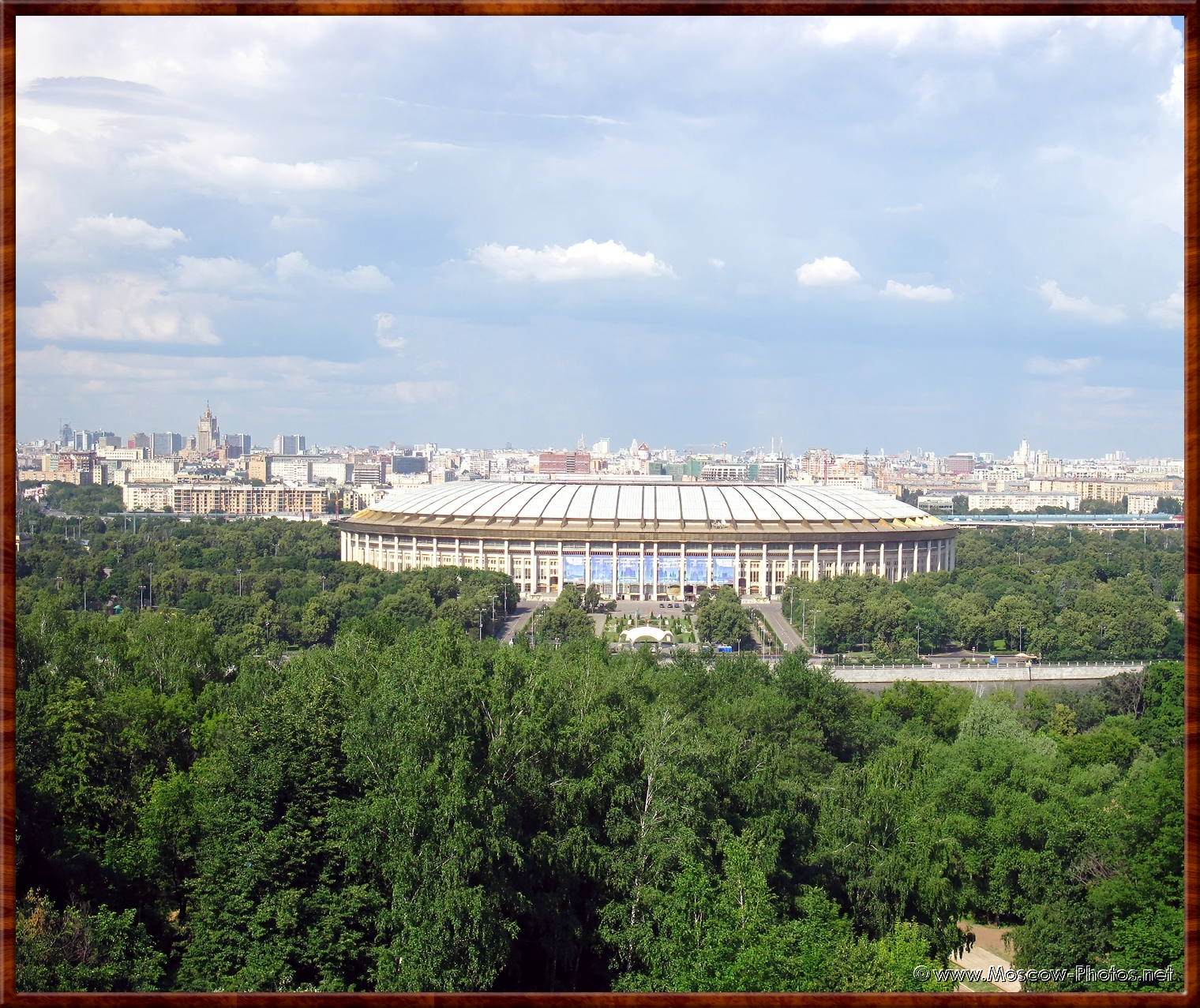 View on the Luzhniki Stadium from the Lenin hills