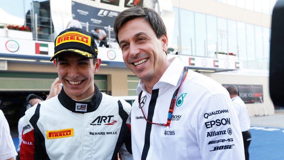 Ocon venceu a GP3 Series 2015 com o chefe da Mercedes, Toto Wolff, seu empresário