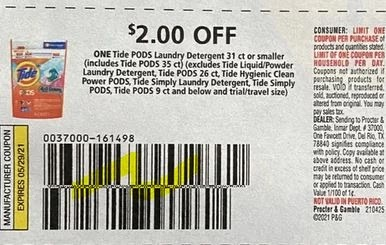 """$2.00/1-Tide Pods 31 Ct OR: Smaller, Limit 1 Coupon from """"P&G"""" (go to Pggoodeveryday.com/offers to print)"""