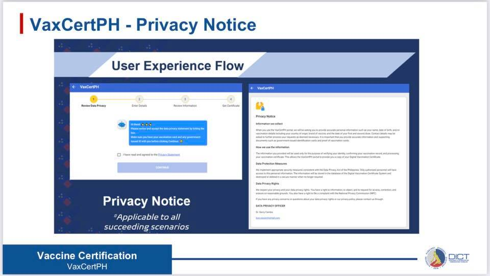 VaxCertPH Privacy Notice