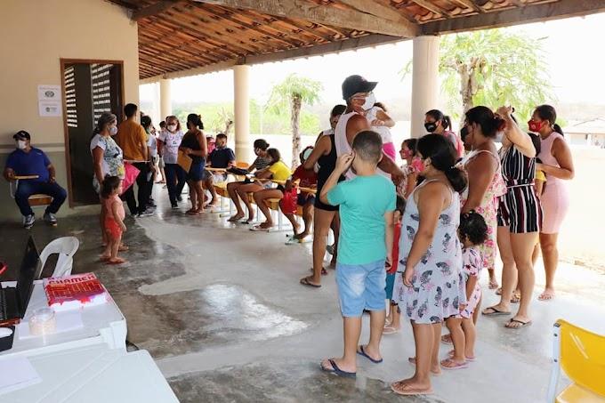Caiçara é beneficiada com ações de saúde e social da 'Prefeitura de Cariré mais perto de você'