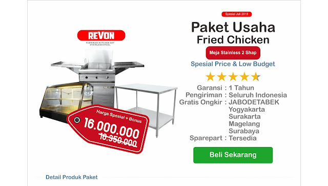 Paket Usaha Fried Chicken Jogja (1 Ser Perlengkapan Dapur Fried Chicken)