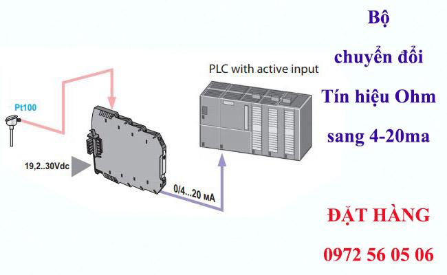 Bộ chuyển đổi tín hiệu can nhiệt pt100