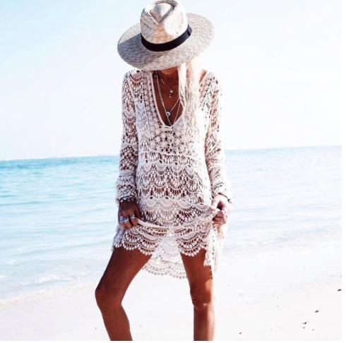 ae8921f0f0 Seksowna koronkowa tunika plażowa