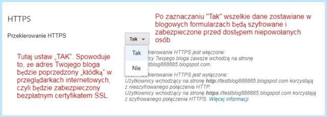 Jak włączyć HTTPS na platformie Blogger?