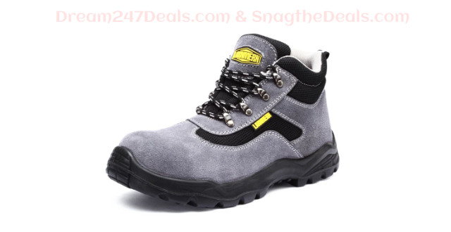 LARNMERN MENS SAFETY WORK BOOTS STEEL TOE 30.99