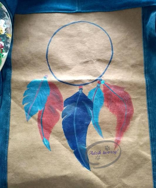 ręcznie malowany łapacz snów DIY na tkaninie