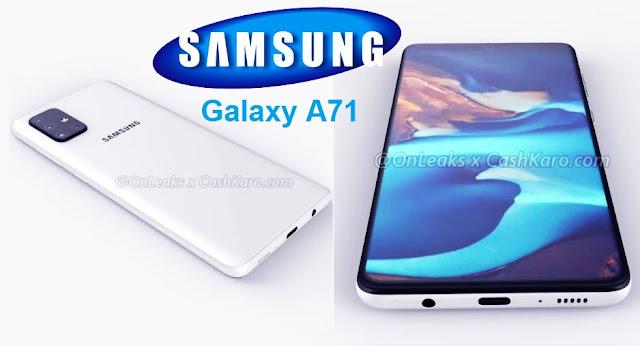 أعلنت شركة Samsung بتحديث سلسلة Galaxy-A العام المقبل ، مع انتشار الإشارات إلى Galaxy A71 و A51 و A91 قريبًا. ظهرت المواصفات المزعومة لـ Galaxy A71 على الإنترنت مؤخرًا ، والآن ، هناك تسريبات جديدة أنه سيظهر. كيف سيبدو الهاتف وقدرته على البطارية. وفقًا للتجديدات المزعومة المستندة إلى تسرب Galaxy A71 ، فإن الهاتف سوف يتكون إعداد الكاميرا الخلفية رباعية العجلات وثقب ذو موقع مركزي ، يشبه إلى حد كبير الثنائي الرائد Galaxy Note 10. علاوة على ذلك ، يتم تزويد Galaxy A71 بحزم بطارية تبلغ 4500 مللي أمبير في الساعة.