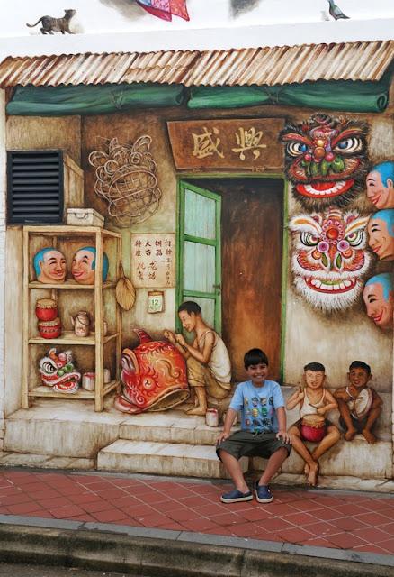 murais na Mohamed Ali Lane, Chinatown de Cingapura