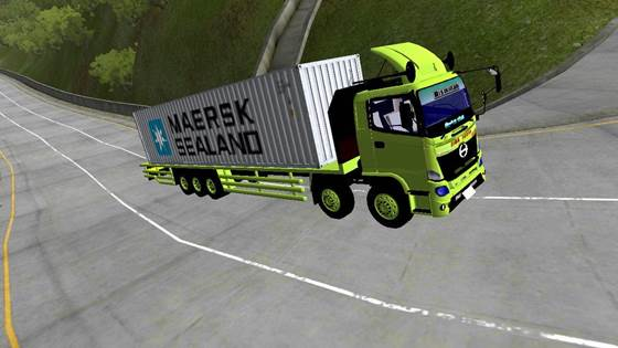 mod truk bussid hino 500 tribal kontainer maersk