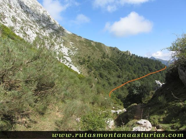 Ruta circular de Taranes al Tiatordos: Bajando a Brañadosu