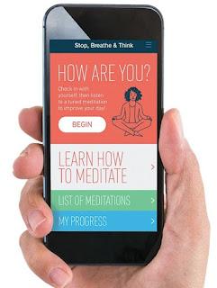 Aplicativo para meditação Stop, Breathe e Think