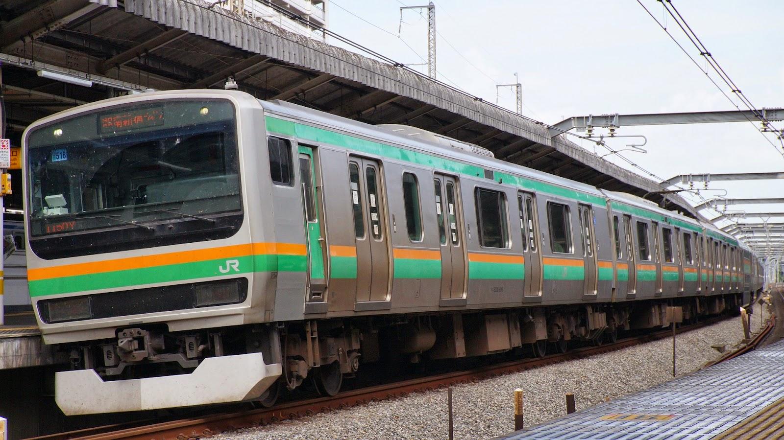 湘南新宿ライン浦和駅に到着するJR東日本E231系